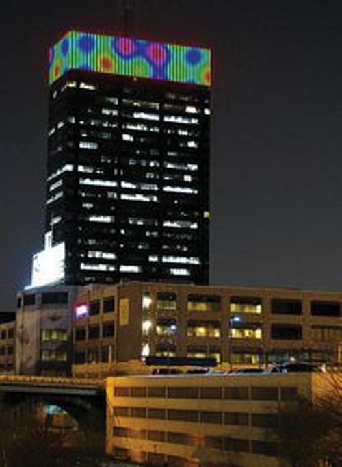 PECO Building digital art display